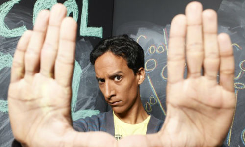 "Abed Nadir (Danny Pudi) sizes up the look of ""Community"" season 4"