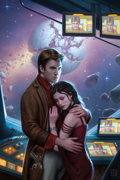 Mal (Nathan Fillion) and the woman he loves Inara  Serra (Morina Baccarin) live on the Firefly comic book series (image via westcoastheroes.com)