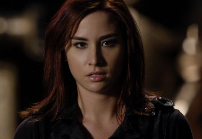 Claudia (Allison Scagliotti)  faces the battle of her life to save the warehouse, her colleagues and yes the world once again (image via Warehouse 13 official site (c) syfy)