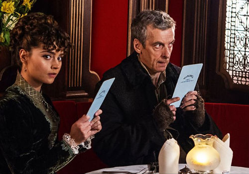 Clara and the Doctor, firm friends and possibly on their way to being much more in during Matt Smith's occupation of the role, find themselves having to re-navigate their relationship after the Doctor emerges older, a little colder and with bigger eyebrows after his most recent regeneration (image via official Doctor Who site (c) BBC)