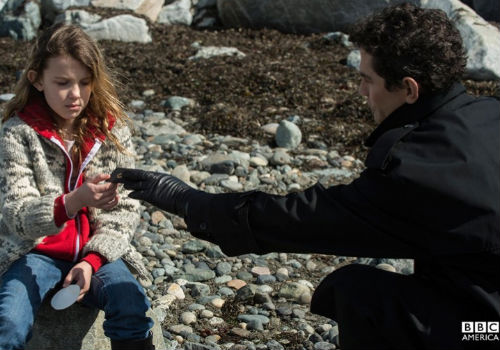 The deeply unsettling scene on the beach where Madison (Millie Brown) is approached by a mysterious man is emblamatic of the show as a whole - the subversion of the everyday by the secret and unknown, the mixing of a real world threat with a decidedly otherworldly one (image via Intruders official site (c) BBC America)