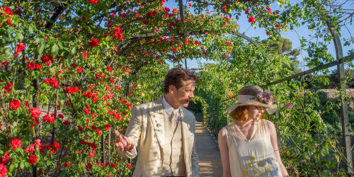 What are these strange emotions stirring with Stanley Crawford? Could it be that he, a man who chose his fiancee Olivia  (Catherine McCormack) purely based on their compatible minds is not as captive to the bleakness of a life without magic, mystery and religion as he thought? (image via official Magic in the Moonlight site (c) Sony Pictures)