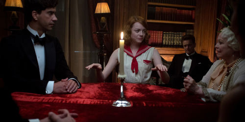 """Sophie may be a real psychic, the one capable of chasing """"the black clouds"""" away from Stanley's perpetually bleak existence and it certainly seems that way at first at a seance held held to communicate with Grace's dearly-departed husband (image via official Magic in the Moonlight site (c) Sony Pictures)"""