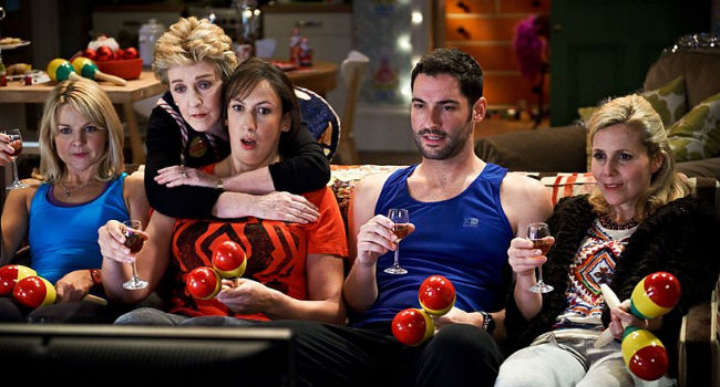 The cast of Miranda look as shocked as I do that the sitcom is coming to an end (image via and (c) BBC)