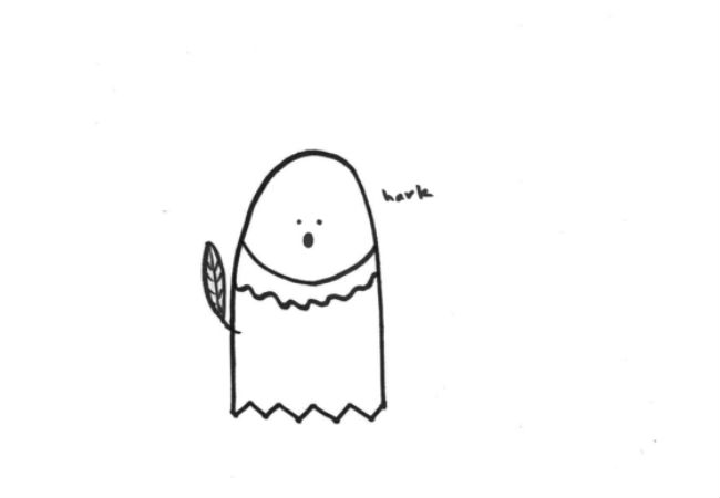 The Ghost of William Shakespeare (drawings (c) Alanna Okun and Jessica Probus Buzzfeed staff via Buzzfeed)