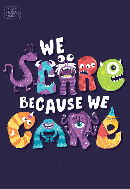Monsters Inc. (image (c) Risa Rodil via Behance via Paste)