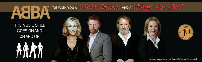 ABBA (image via The Music Still Goes On and On and On ABBA fan page on Facebook / photo montage design by Even (c) Steinar Ormbostad)